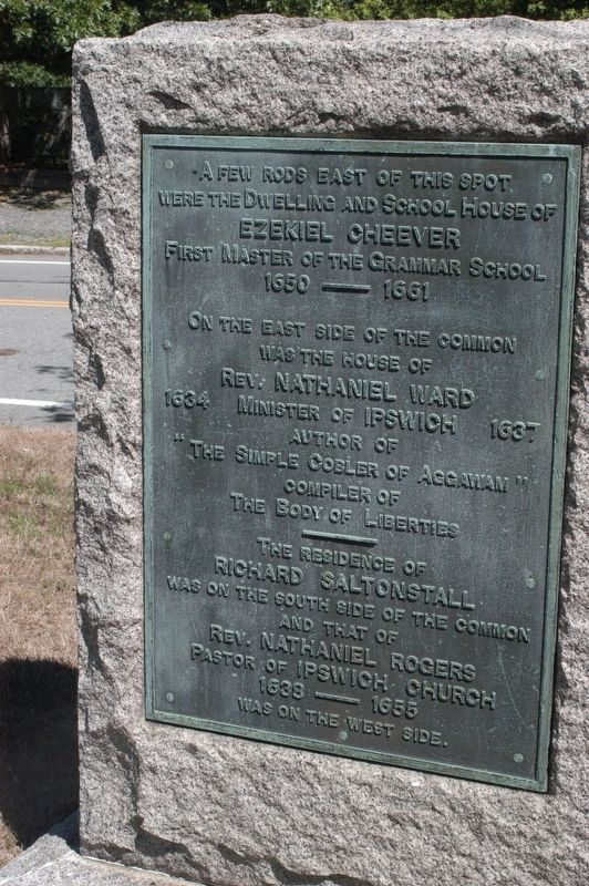 Ipswich Massachusetts Village Green Memorial Marker image. Click for full size.