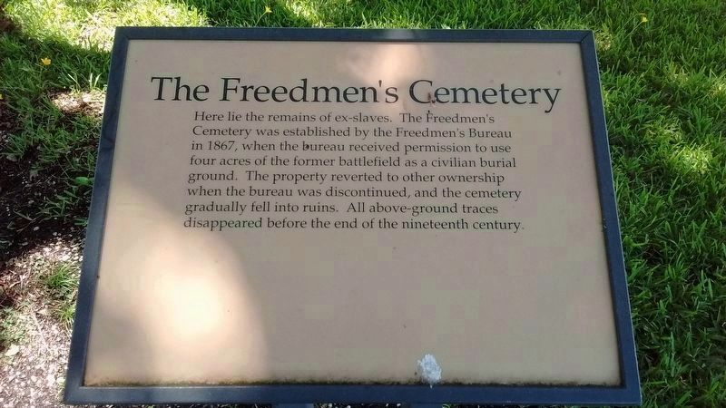 The Freedmen's Cemetery Marker image. Click for full size.