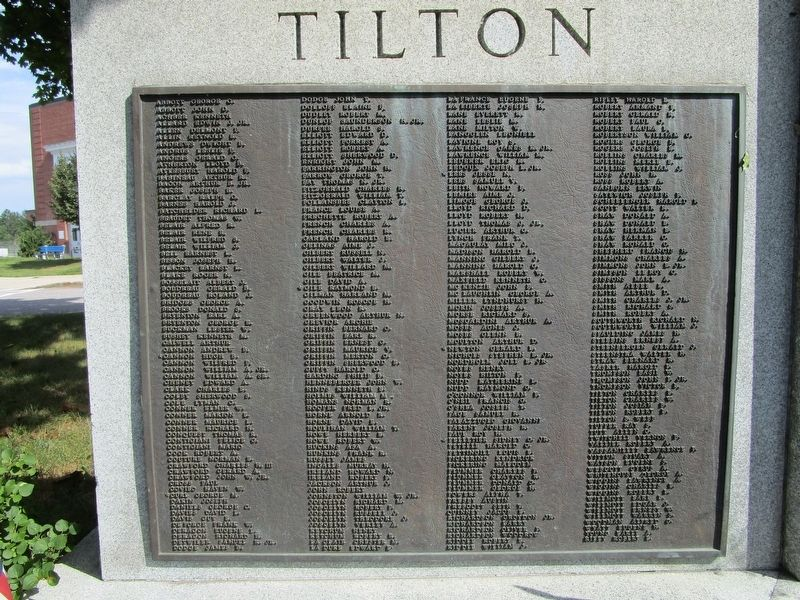Tilton WWII Names image. Click for full size.