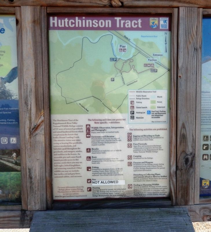 Hutchinson Tract Marker image. Click for full size.