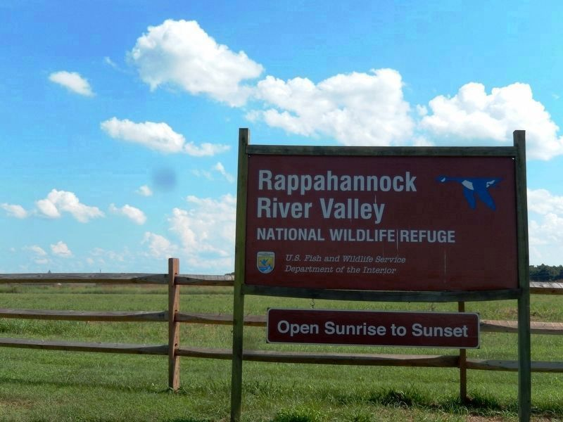 Sign at the entrance to Rappahannock River Valley National Wildlife Refuge image. Click for full size.