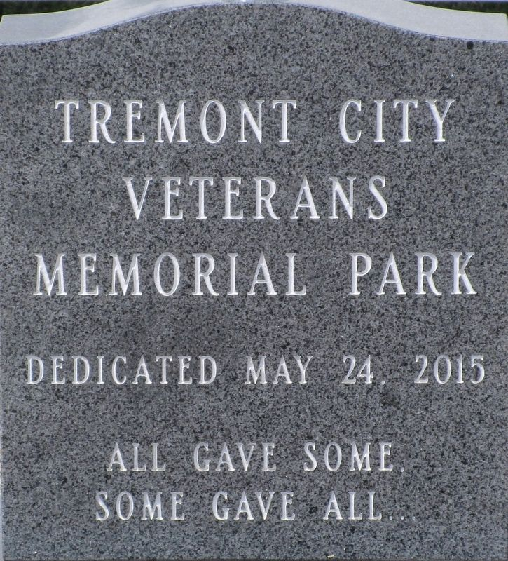Tremont City Veterans Memorial Marker image. Click for full size.