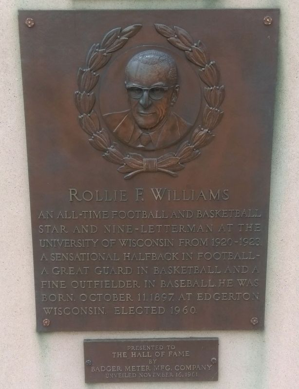 Rollie F. Williams Marker image. Click for full size.