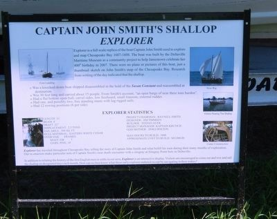Captain John Smith's Shallop Marker image. Click for full size.