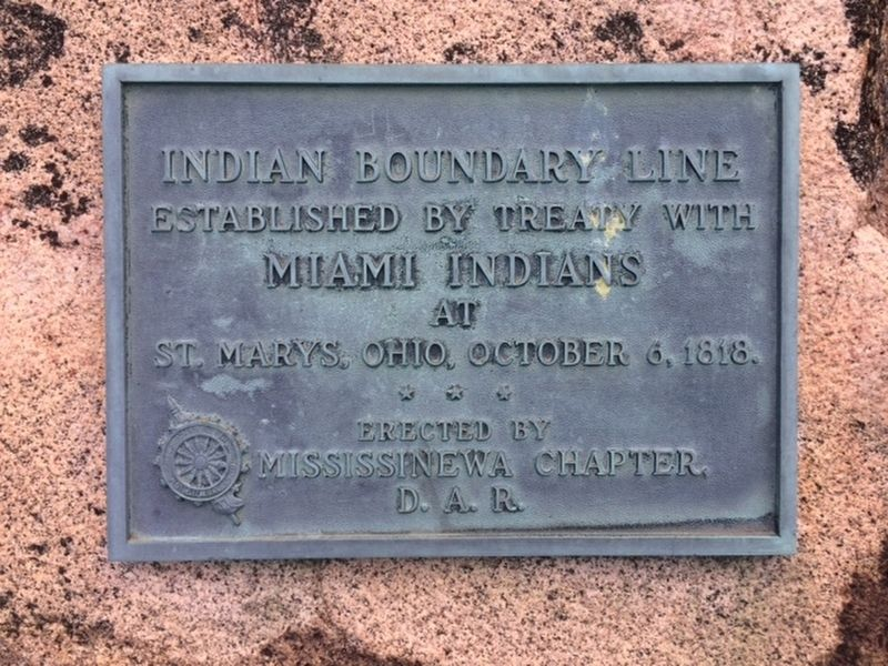 Indian Boundary Line Marker image. Click for full size.