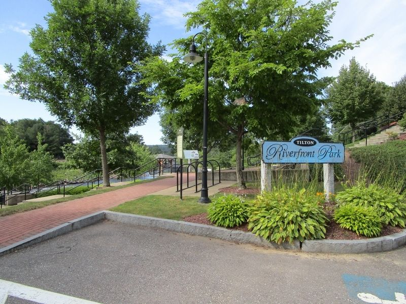 The Town of Tilton Marker at Riverfront Park image. Click for full size.