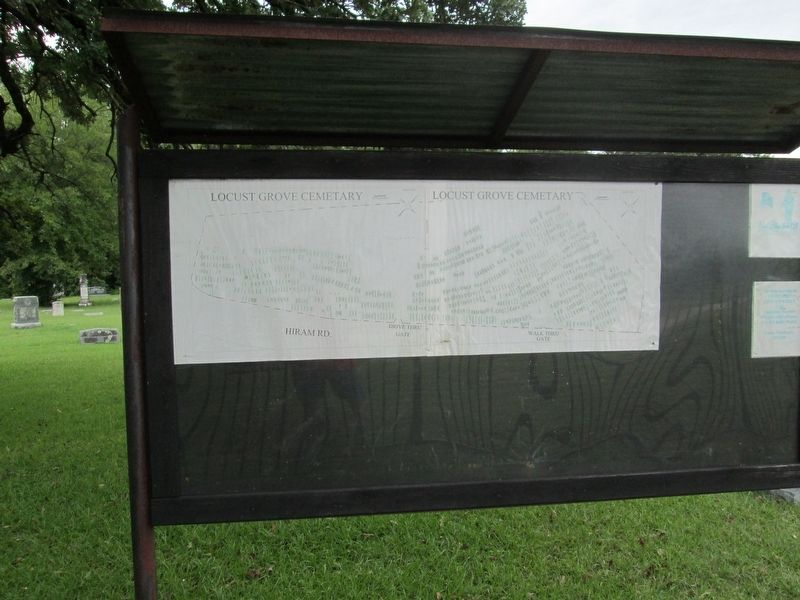 Locust Grove Map of Headstones in Cemetery image. Click for full size.