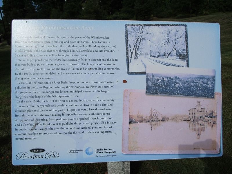 The Winnipesaukee River Marker image. Click for full size.