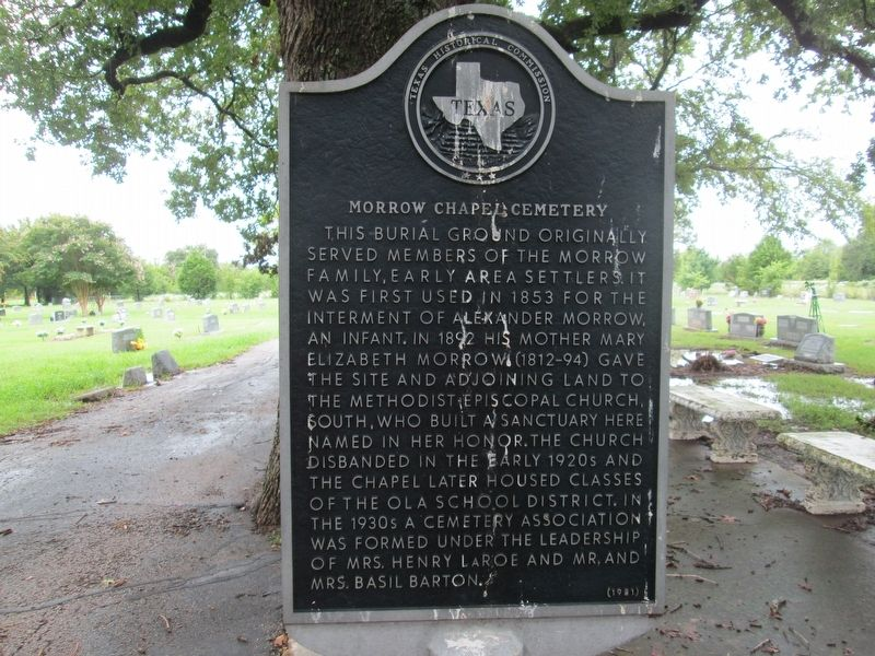 Morrow Chapel Cemetery Marker image. Click for full size.