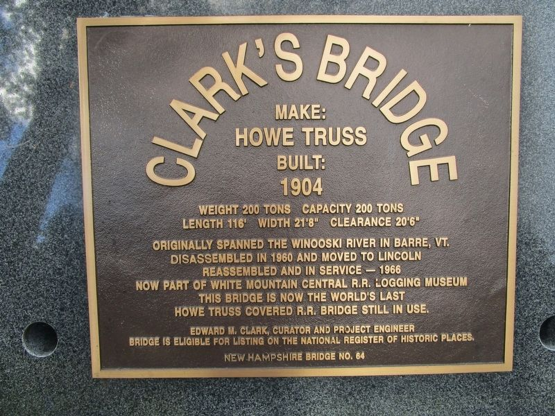 Clark's Bridge Marker image. Click for full size.