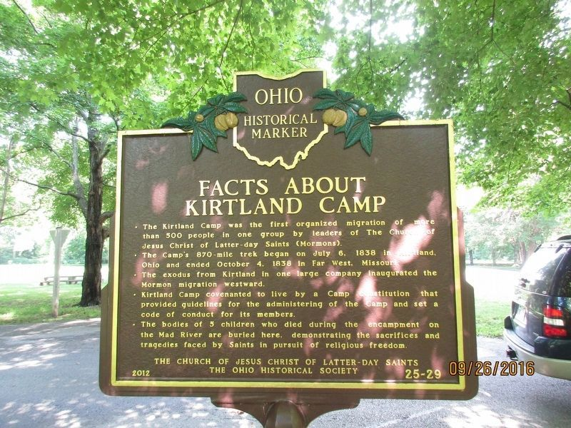 Facts About Kirkland Camp Marker image. Click for full size.
