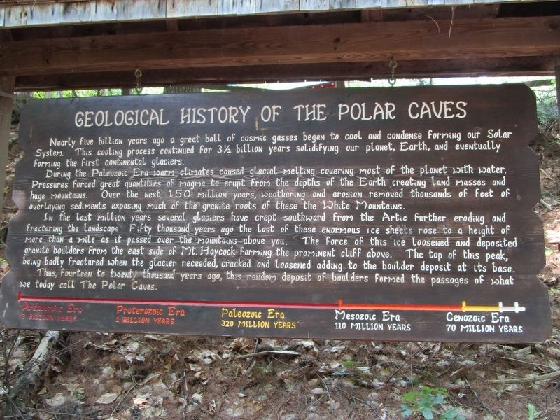 Geological History of the Polar Caves Marker image. Click for full size.
