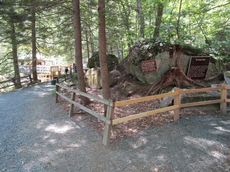 The Granite State Marker - Polar Caves Park image. Click for full size.