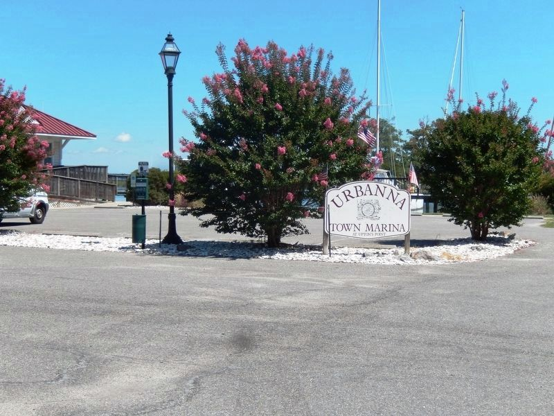 Sign at the entrance to the Urbana Town Marina image. Click for full size.