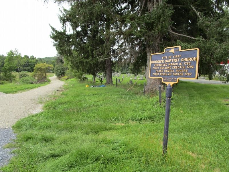 Site of First Hoosic Baptist Church & Marker image. Click for full size.