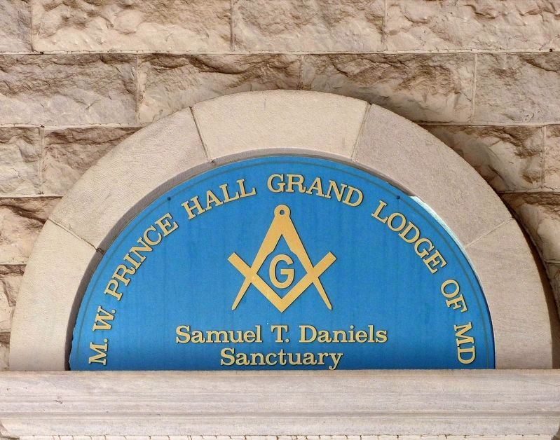 M. W. Prince Hall Grand Lodge of MD<br>Samuel T. Daniels Sanctuary image. Click for full size.