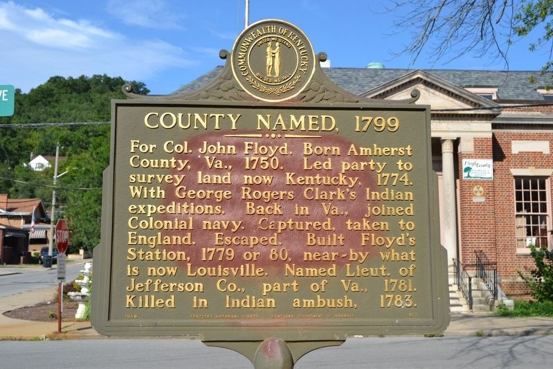 County Named, 1799 Marker image. Click for full size.