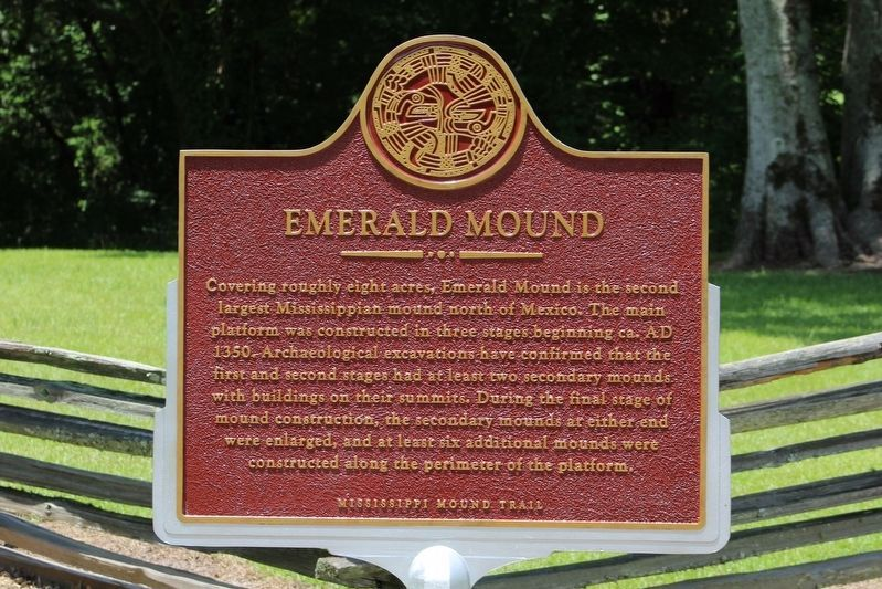 Emerald Mound Marker image. Click for full size.