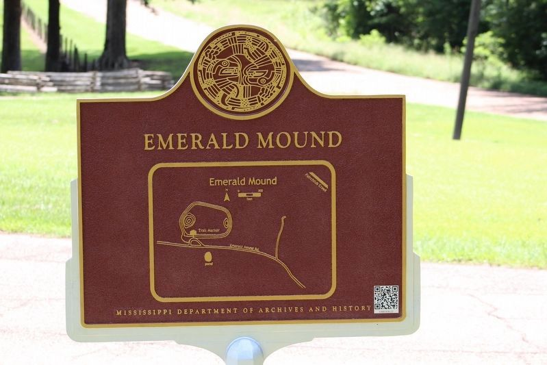 Emerald Mound Marker (side 2) image. Click for full size.