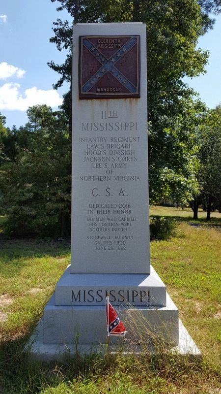 11th Mississippi Monument (front) image. Click for full size.