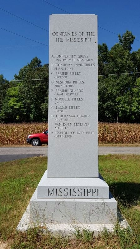11th Mississippi Monument (rear) image. Click for full size.