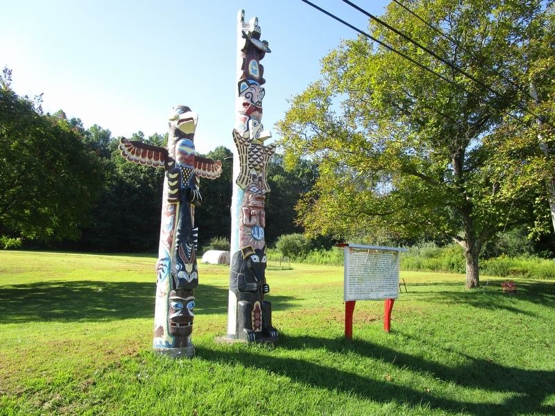 Williams Township Totem Poles Marker image. Click for full size.