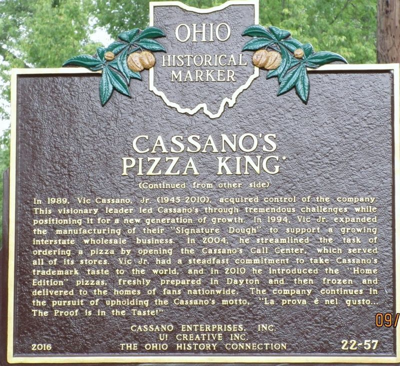 Cassano's Pizza King Marker image. Click for full size.
