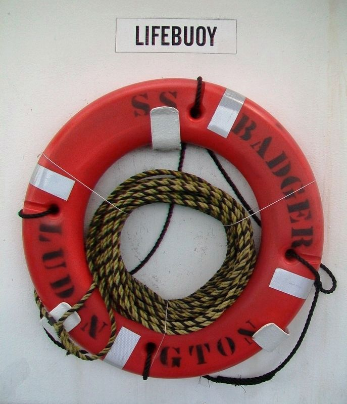 <i>S.S. Badger</i> Life Buoy image. Click for full size.