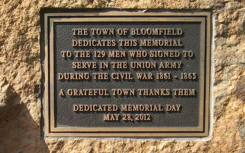 Bloomfield Civil War Memorial image. Click for full size.