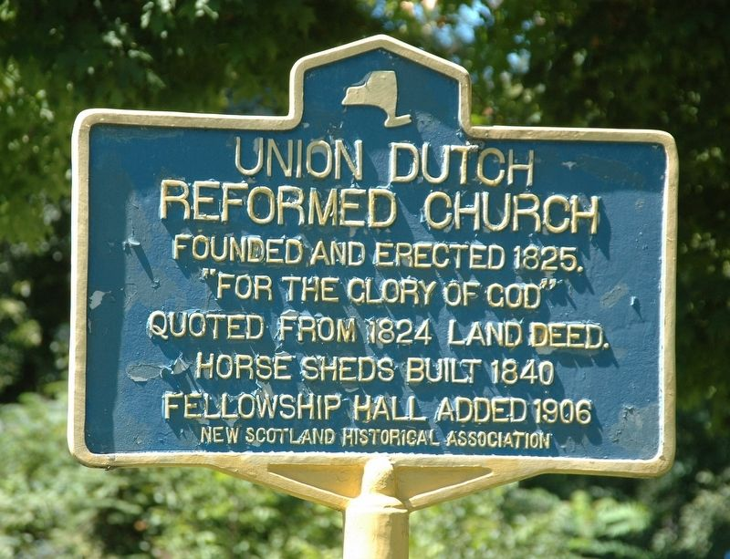 Union Dutch Reformed Church Marker image. Click for full size.