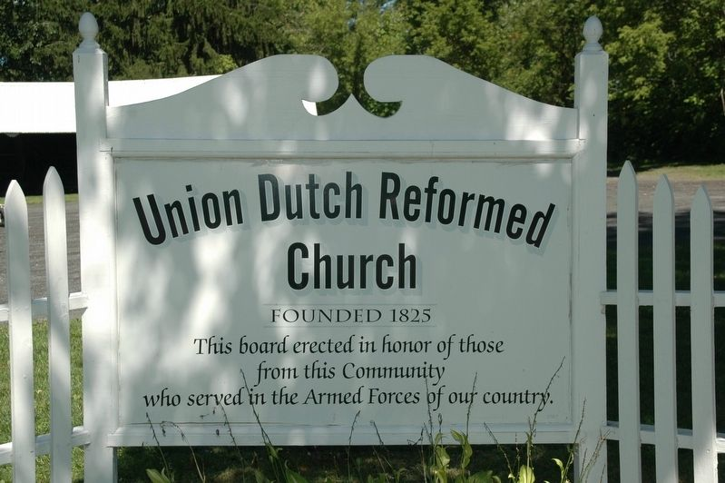 Union Dutch Reformed Church Armed Forces Memorial image. Click for full size.