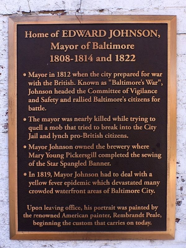 Home of Edward Johnson Marker image. Click for full size.