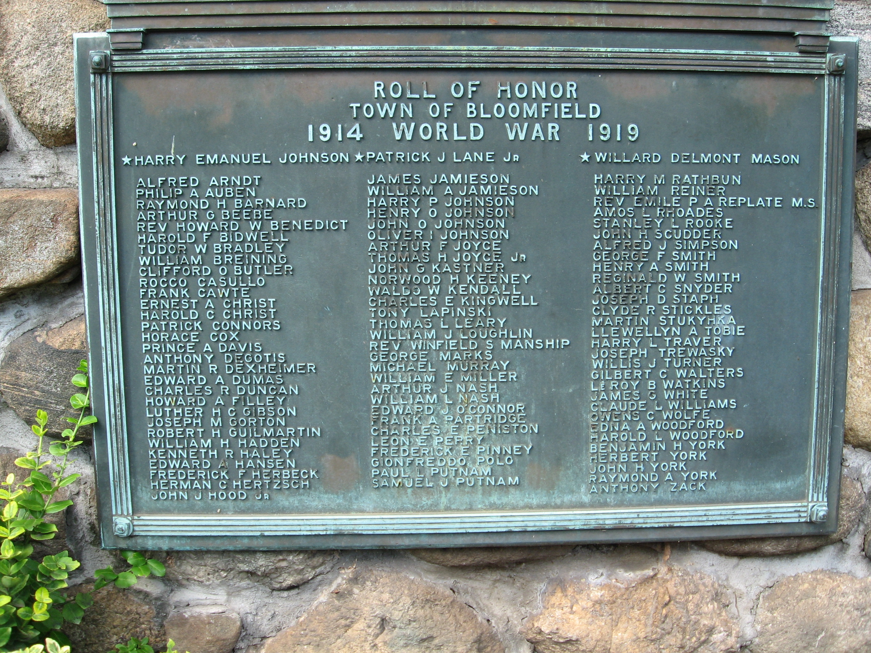 Bloomfield World War II Memorial