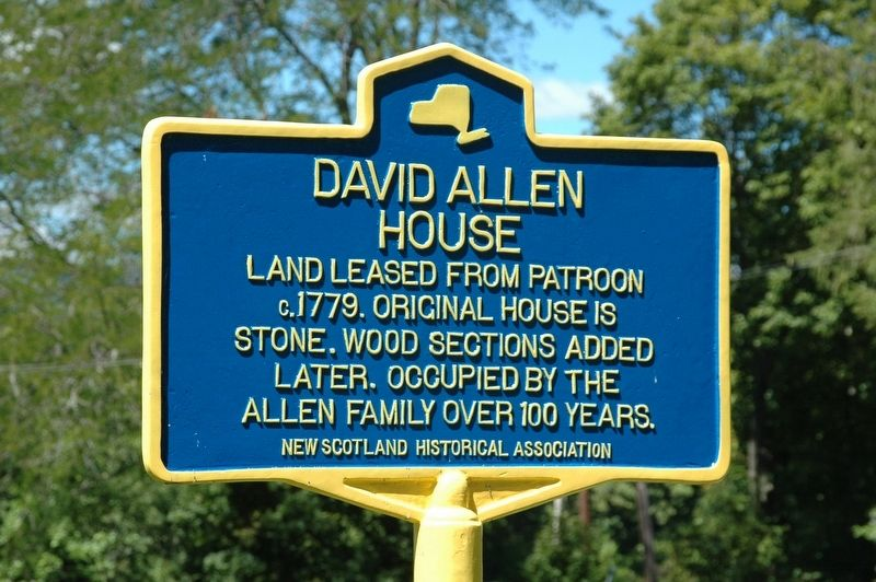 David Allen House Marker image. Click for full size.
