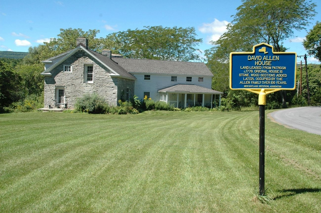 David Allen House & Marker image. Click for full size.