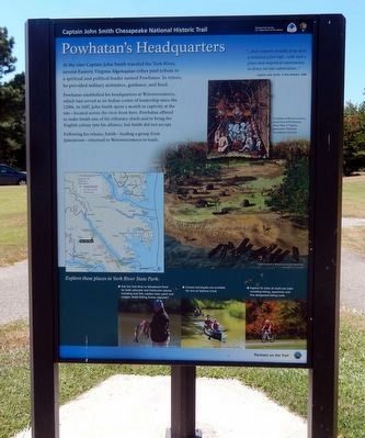 Powhatan's Headquarters Marker-Panel 1 image. Click for full size.