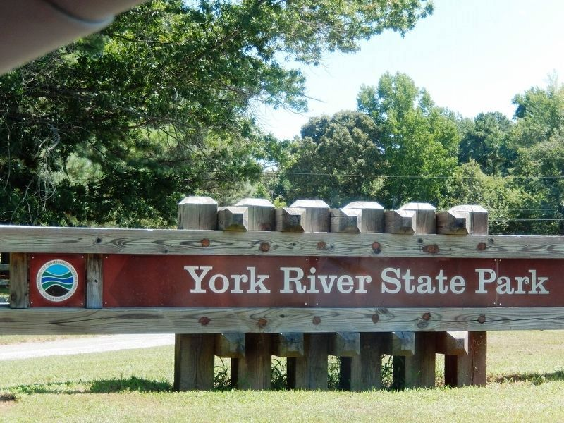 York River State Park-sign at the entrance image. Click for full size.