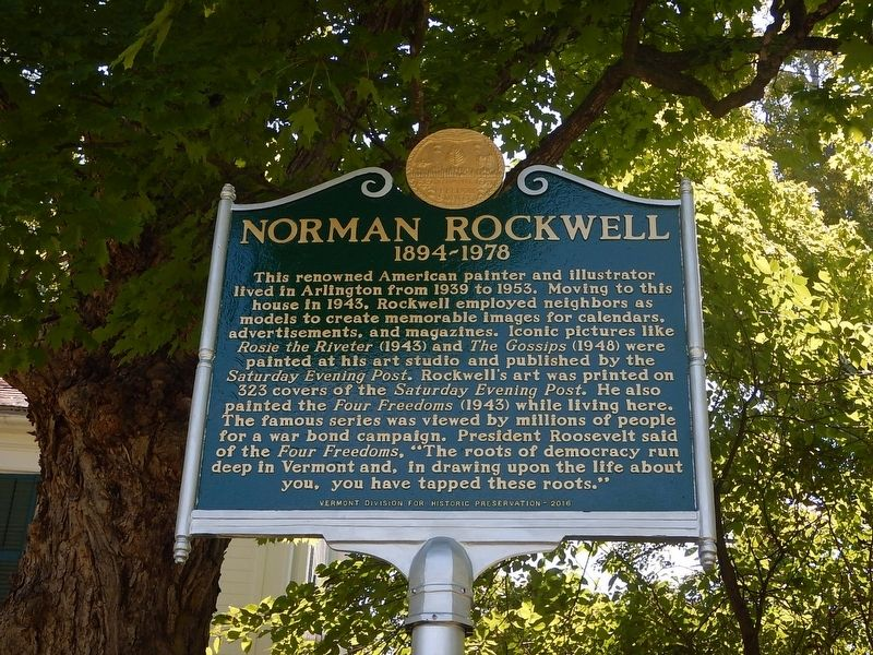 Norman Rockwell Marker image. Click for full size.