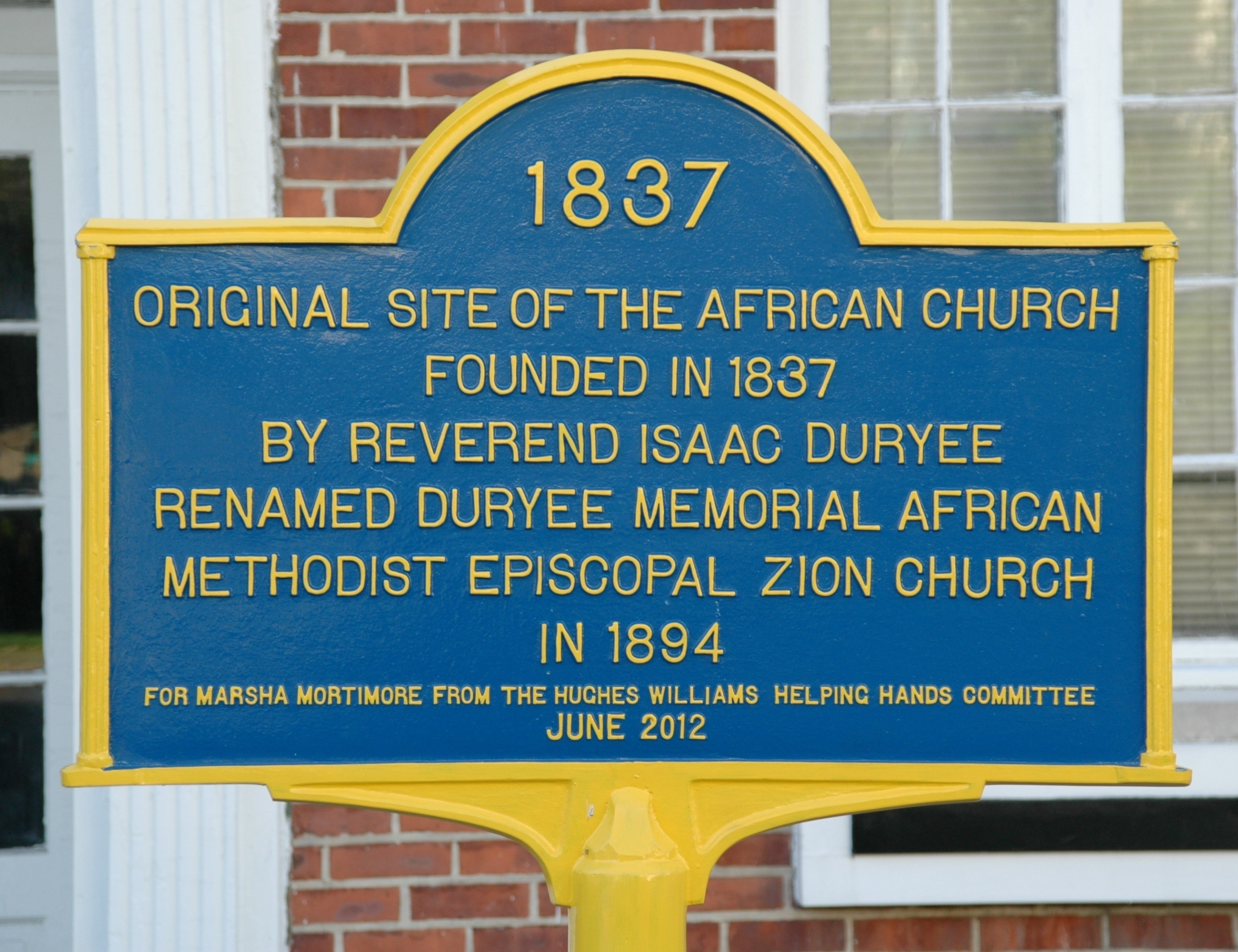Site of the African Church Marker