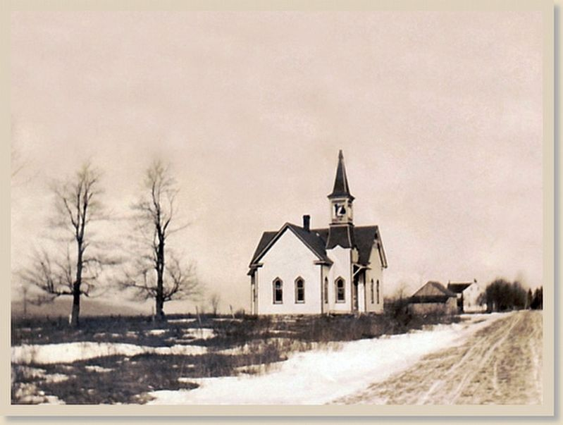 Blakeslee United Methodist Church 1913 image. Click for full size.