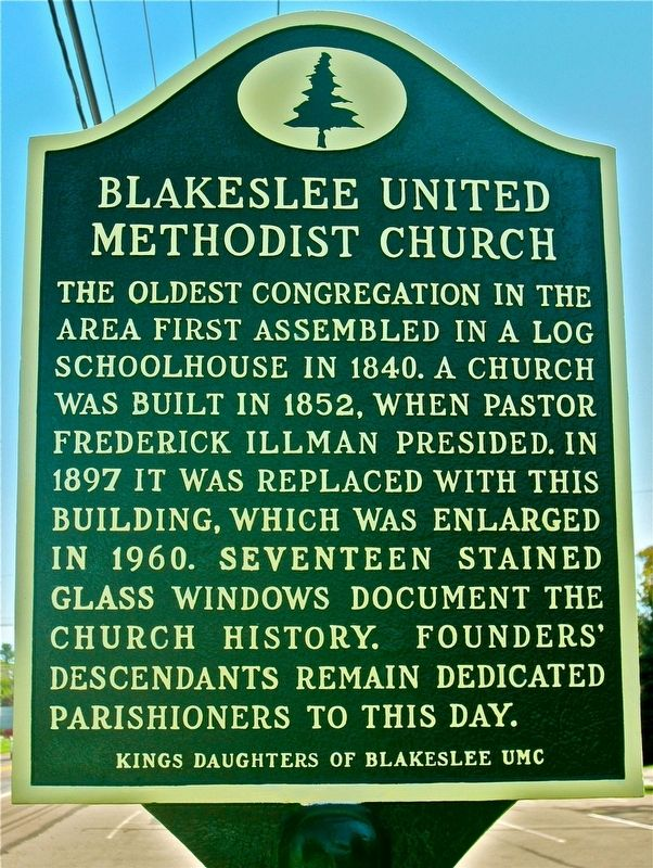 Blakeslee United Methodist Church Marker image. Click for full size.