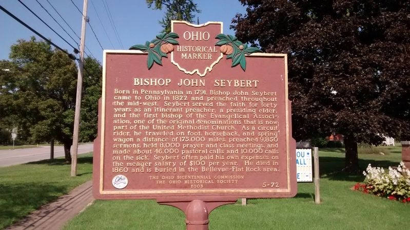 Circuit Riders / Bishop John Seybert Marker image, Touch for more information