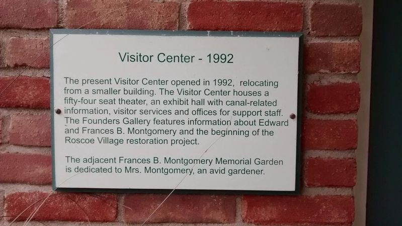Visitor Center - 1992 Marker image. Click for full size.