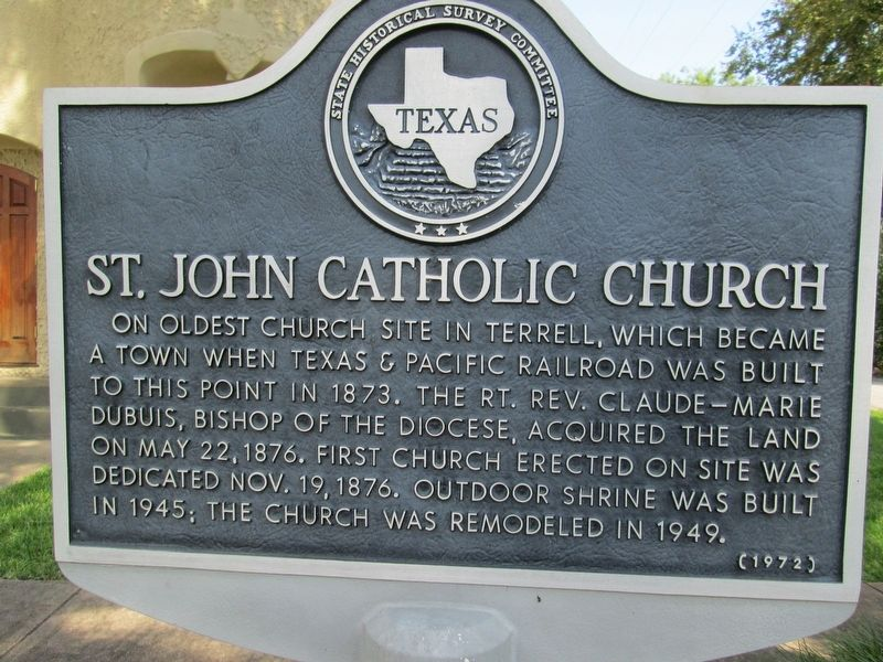 St. John Catholic Church Marker image. Click for full size.