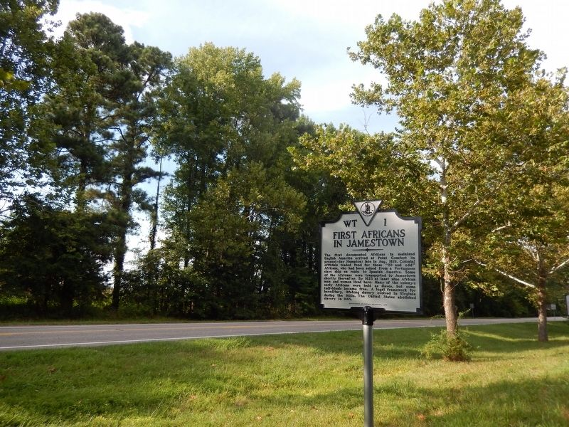 First Africans In Jamestown Marker image. Click for full size.