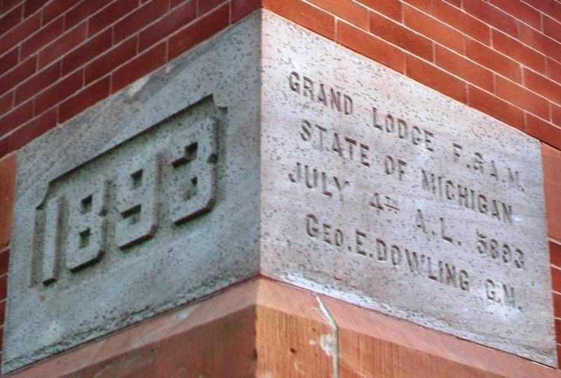Mason County Courthouse Cornerstone image. Click for full size.