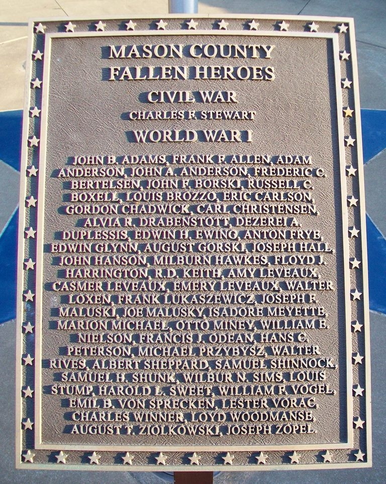 Mason County Veterans Memorial Roll of Honored Dead