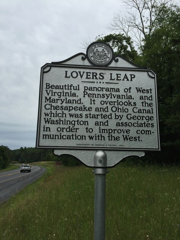 Lovers' Leap Marker image. Click for full size.