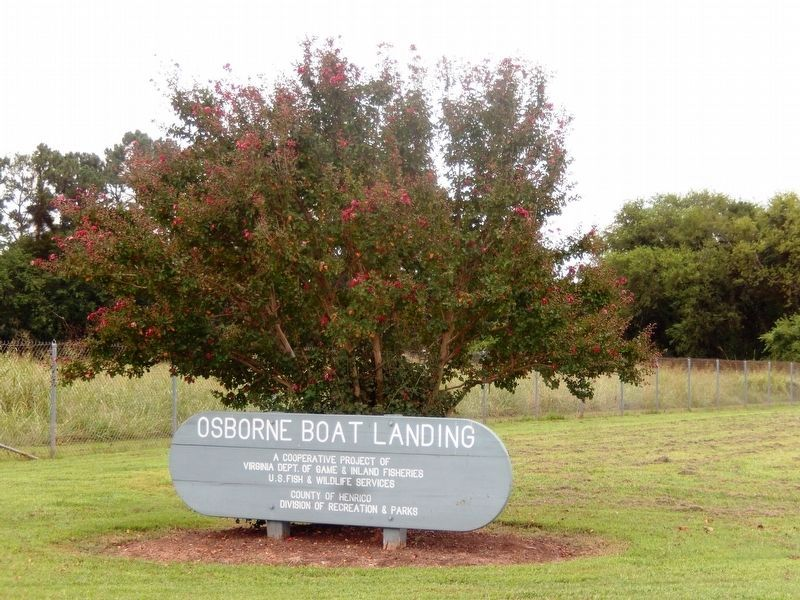 Sign at the entrance to Osborne Park Boat Landing image. Click for full size.