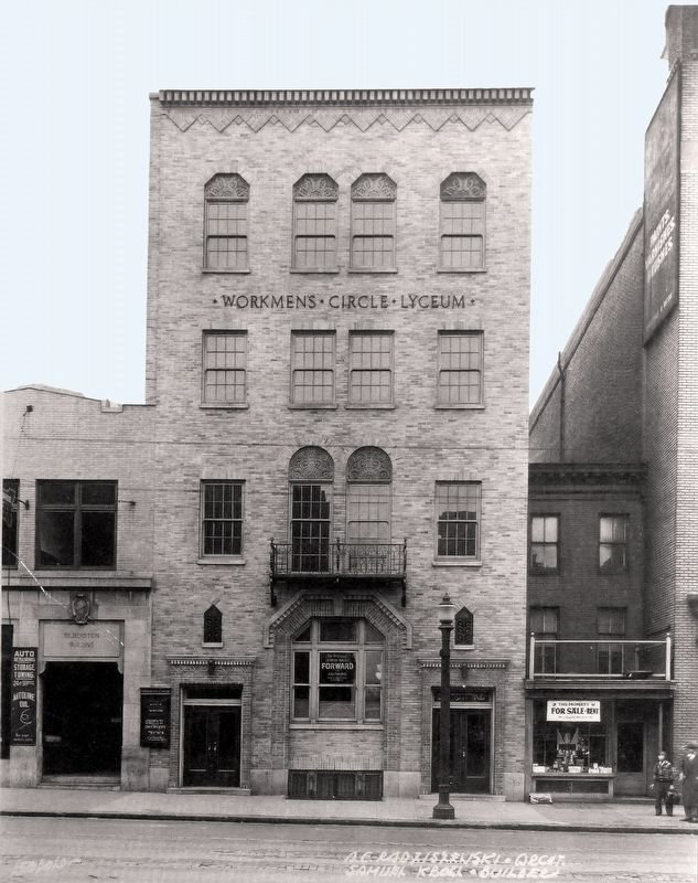 The Workman's Circle, just after its 1930 Renovation. image. Click for full size.